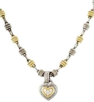 Judith Ripka Diamond Heart Pendant Necklace