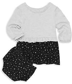 Splendid Baby Girl's Star Two-Piece Dress& Bloomers Set