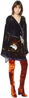 Blend of America Act N°1 Printed Silk Velvet Kimono Dress