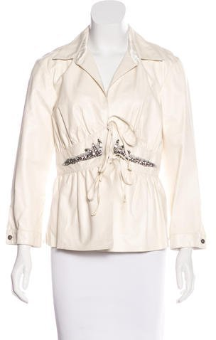 Roberto CavalliRoberto Cavalli Embellished Leather Jacket