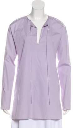 Prada Semi-Sheer Long Sleeve Tunic