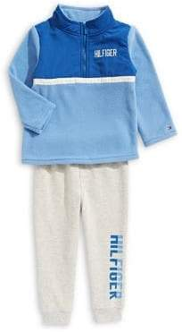 Tommy Hilfiger Baby's Two-Piece Half-Zip Sweater Cotton Pants Set