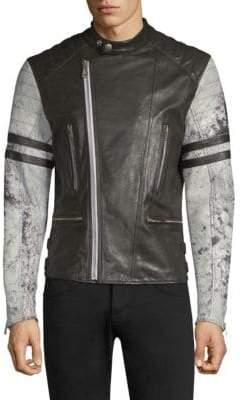 Belstaff Ennis Acid Wash Leather Jacket