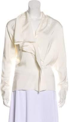 Lanvin Ruffle-Trimmed Long Sleeve Top