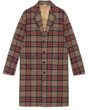 Gucci Check wool coat