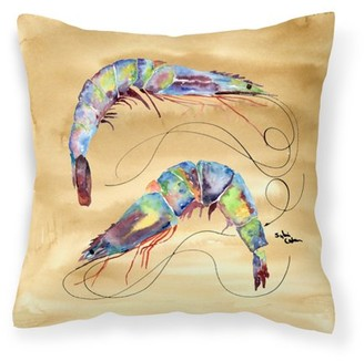 Caroline's Treasures Shrimp Fabric Decorative Pillow
