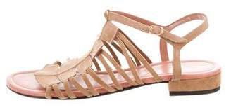 Robert Clergerie Cut-Out Suede Sandals