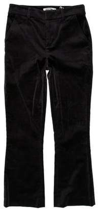 Frame Velvet Mid-Rise Pants