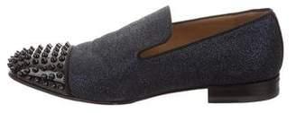 Christian Louboutin Spooky Colonne Glitter Loafers