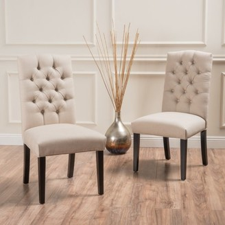 Off-White Noble House Fabric Dining Chairs (Set of 2)