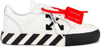 Off-White Off White Arrow Low Vulcanized Sneaker in White & Black   FWRD