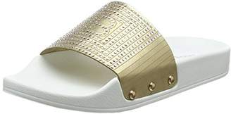 Laura Biagiotti DOLLS Girls' L-3582 Slide Sandal, Gold, 11.5UK Child