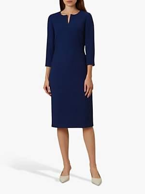Hobbs Viviene Tailored Dress, Royal Blue