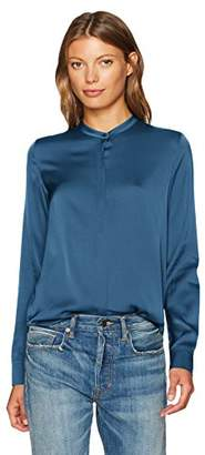 Vince Women's Band Collar Blouse