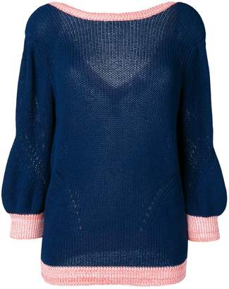 Chiara Bertani v-back knitted jumper