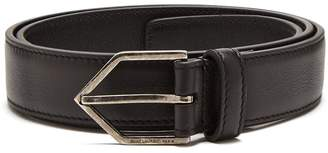 Saint Laurent Triangle-buckle skinny leather belt