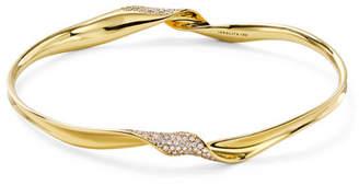 Ippolita 18k Gold Classico Twisted Ribbon Diamond Bracelet