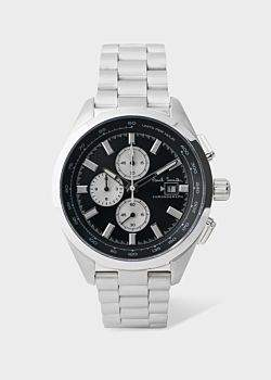 Paul Smith Men's Black And Stainless Steel 'Chrono' Chronograph Watch