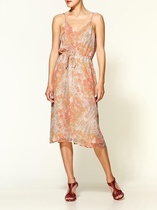 Joie Oasis Floral Printed Crinkle Silk Dress