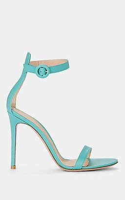 Gianvito Rossi Women's Portofino Leather Ankle-Strap Sandals - Turquoise
