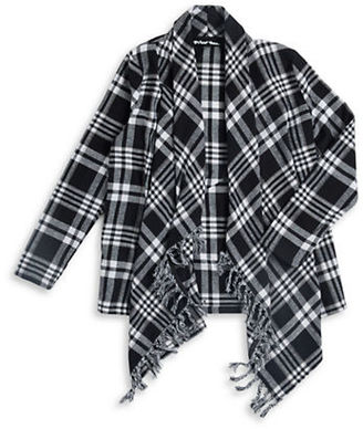 Planet Gold Girls 7-16 Fringe Plaid Top $34 thestylecure.com