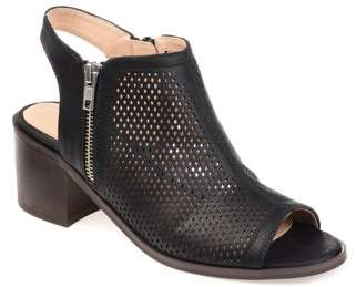 Brinley Co. Womens Open Heel Laser-cut Bootie