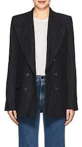 Etoile Isabel Marant Women's Ianey Pinstriped Linen Double-Breasted Blazer-Midnight