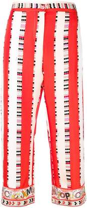 Emilio Pucci cropped printed trousers