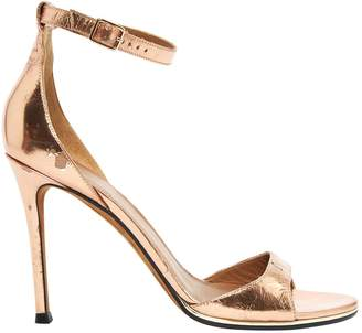 Givenchy Gold Patent leather Sandals