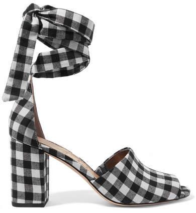 Sam Edelman - Odele Gingham Canvas Sandals - Black