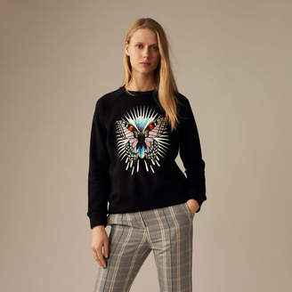 Maje Sweatshirt with embroidered butterfly
