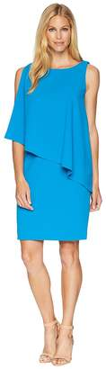 Lauren Ralph Lauren 130H Luxe Scuba Crepe Cooper One Shoulder Day Dress Women's Dress
