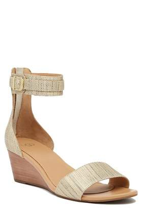 UGG Char Metallic Wedge Sandal