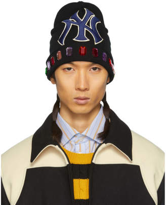 Gucci Black NY Yankees Edition Jewels Beanie