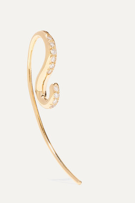 Charlotte Chesnais Petit Hook 18-karat Gold Diamond Earring