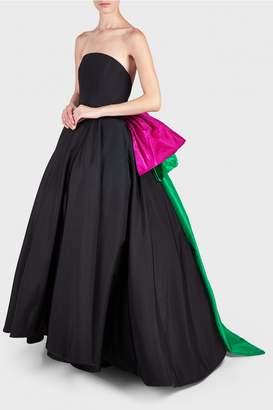Christian Siriano Tri Colour Bow Gown