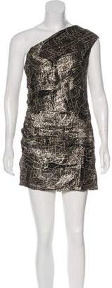 Isabel Marant Metallic One-Shoulder Dress w/ Tags