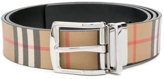 Burberry classic check buckle belt