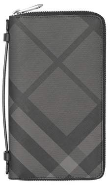 245558824e87 Burberry Check And Leather Travel Wallet