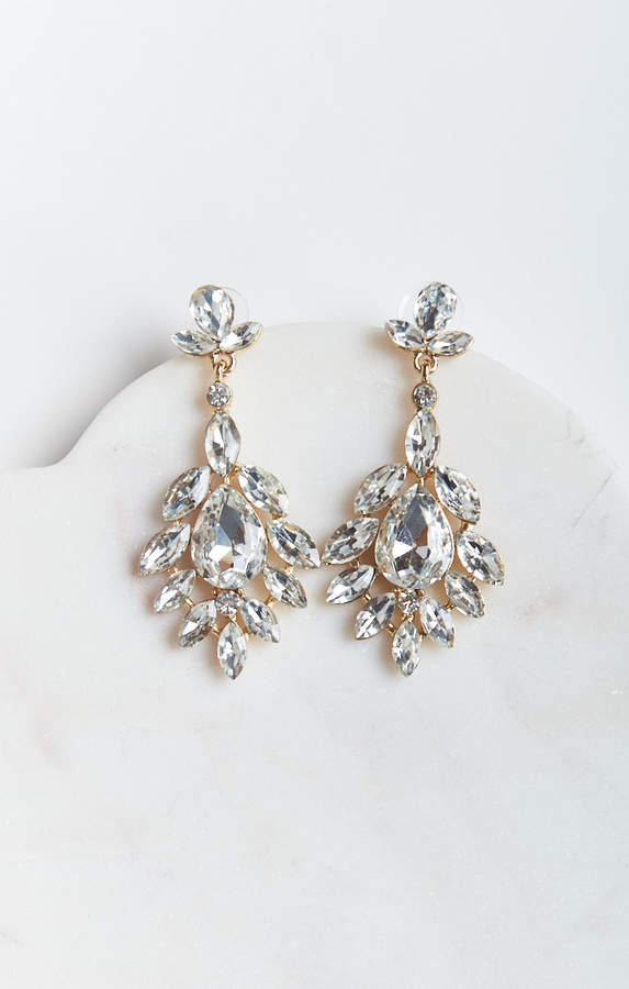 Show Me Your Mumu Rosa Crystal Statement Earrings ~ Gold/Silver