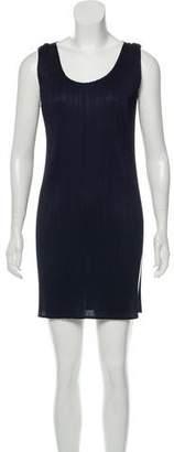 Pleats Please Issey Miyake Sleeveless Crepe Pleated Mini Dress