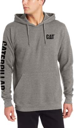 Caterpillar Men's Big-Tall Trademark Banner Hooded Sweatshirt, Dark Heather Grey, 3X-Large