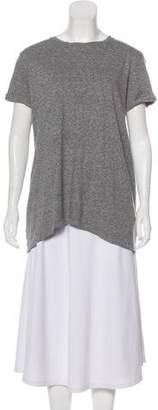 RtA Denim Fringe-Accented Knit Tunic