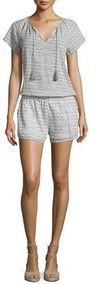 Joie Spica B Printed Short-Sleeve Romper $218 thestylecure.com