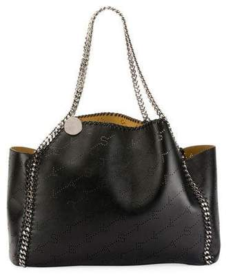 Stella McCartney Falabella East-West Reversible Tote Bag with Perforated Logo
