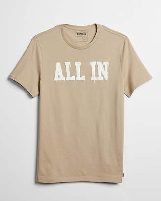 Express All In Raised Graphic Tee