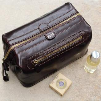 Maxwell Scott Bags Personalised Leather Men Wash Bag.  The Duno Large  625bae11b5720