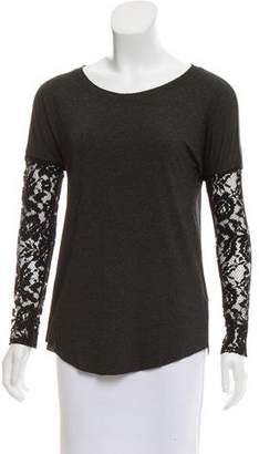 Bailey 44 Lace-Accented Long Sleeve Top