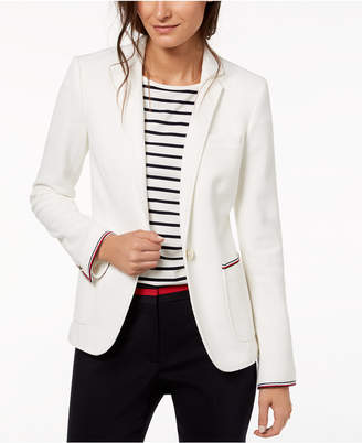 Tommy Hilfiger Striped-Trim Blazer, Created for Macy's
