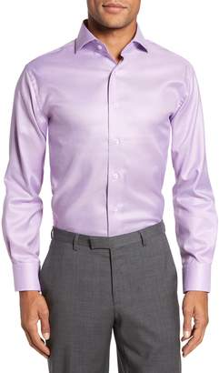 Lorenzo Uomo Trim Fit Houndstooth Dress Shirt